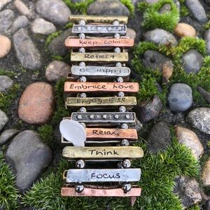 Jewelry - Bracelet Mixed Metals Daily Positive Mantras OS